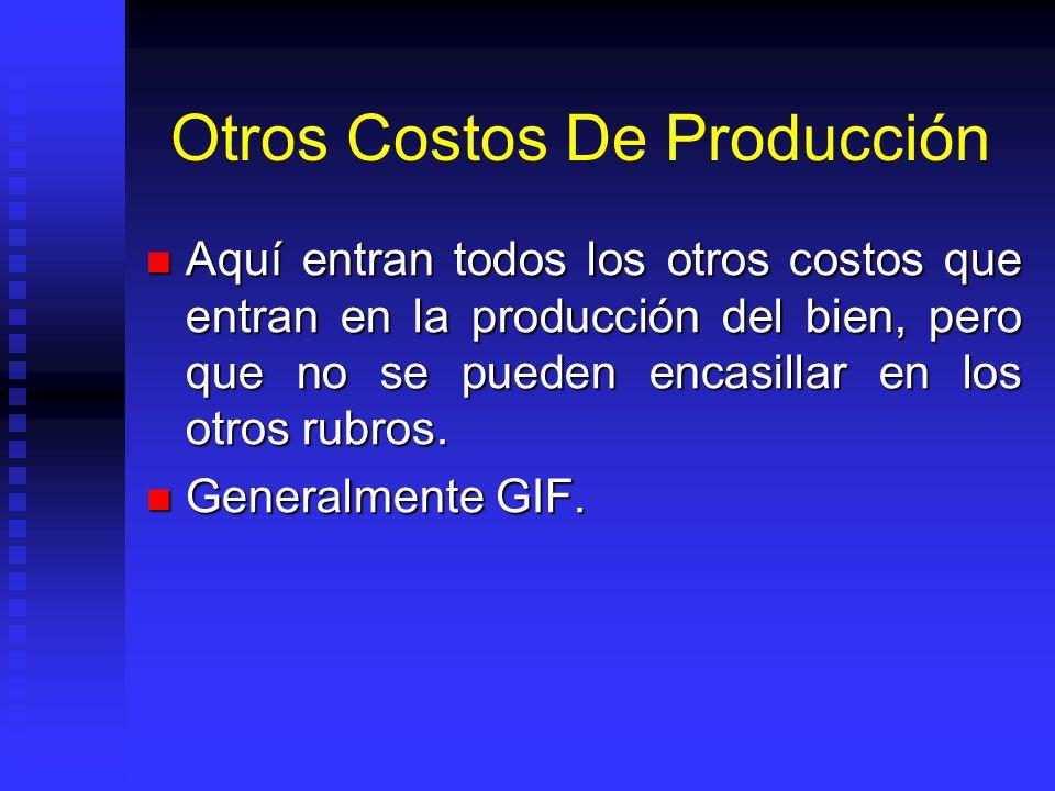 Otros Costos De Producción