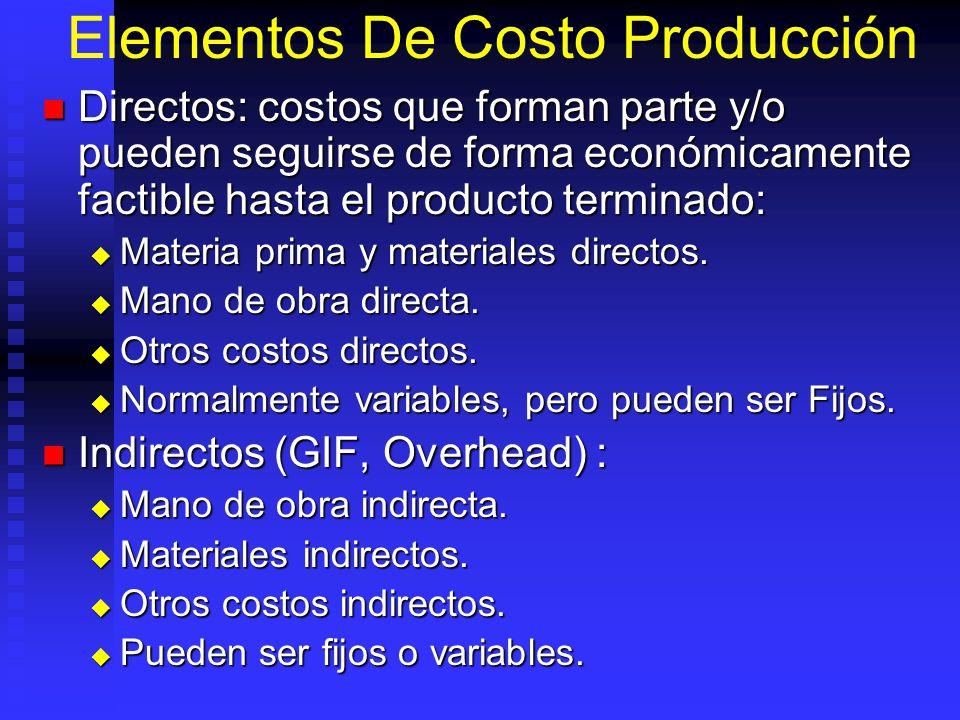 Elementos De Costo Producción
