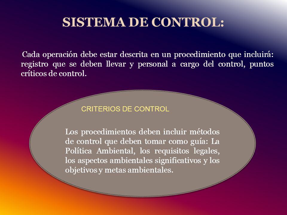 SISTEMA DE CONTROL:
