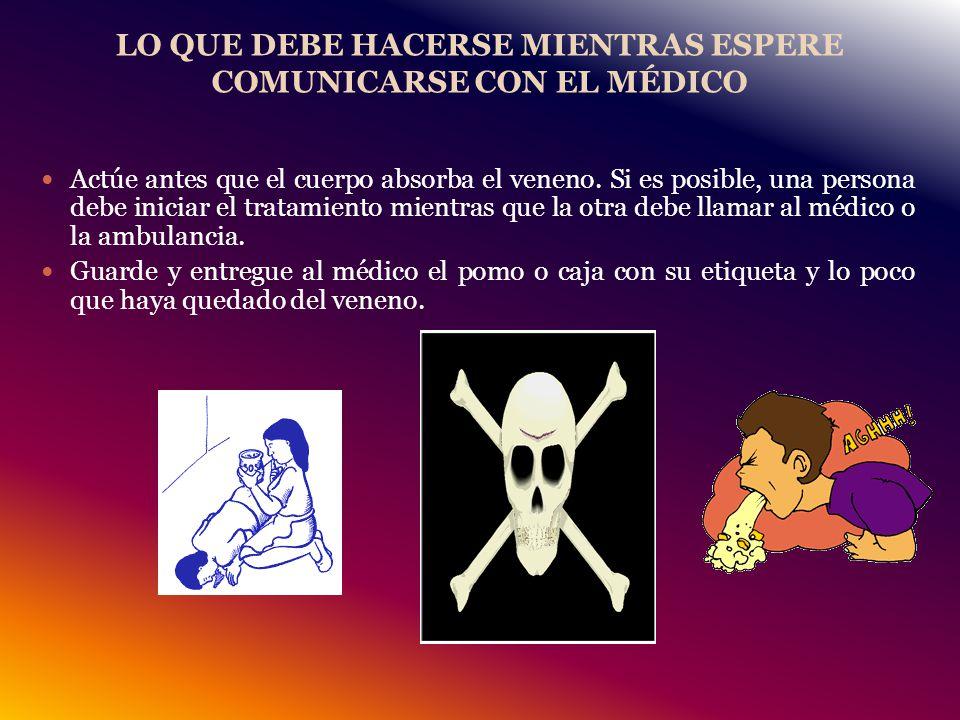 LO QUE DEBE HACERSE MIENTRAS ESPERE COMUNICARSE CON EL MÉDICO