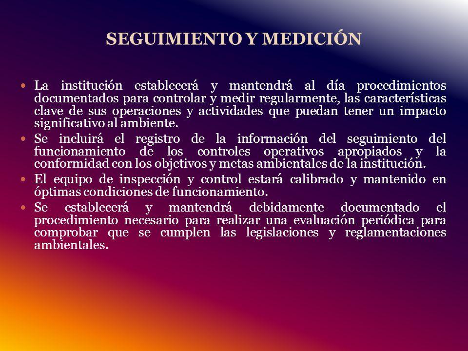 SEGUIMIENTO Y MEDICIÓN