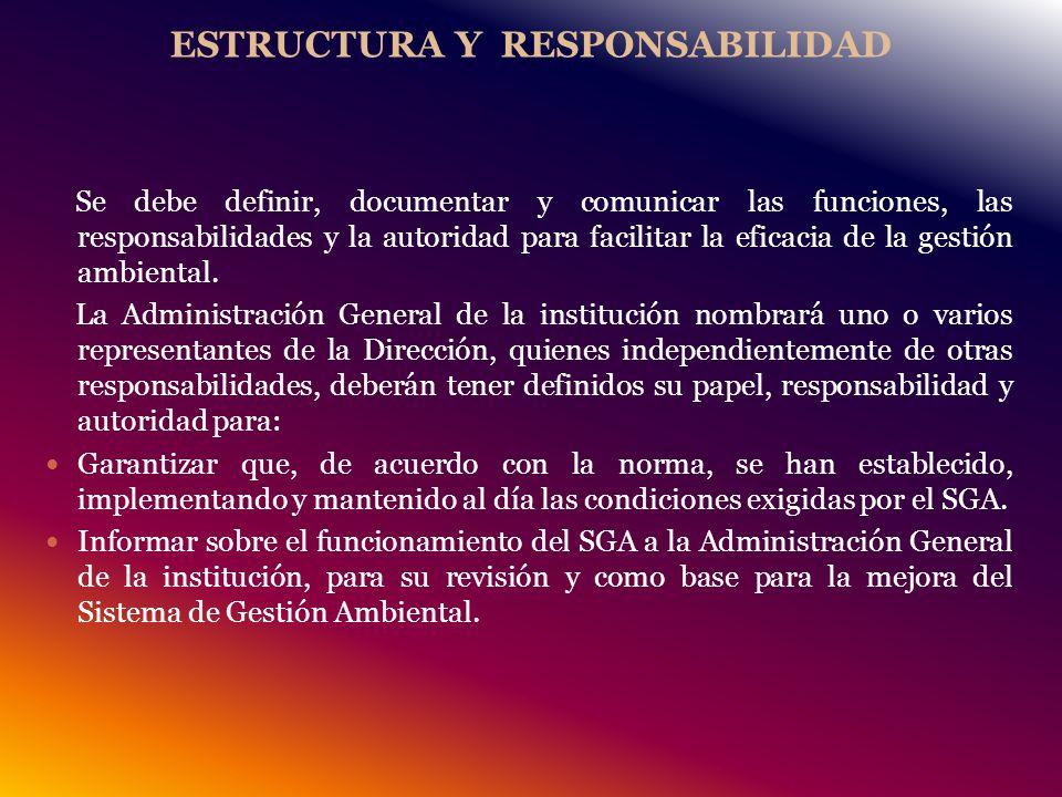 ESTRUCTURA Y RESPONSABILIDAD