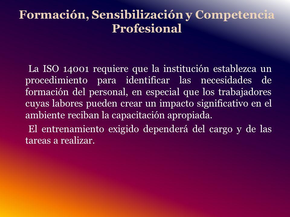 Formación, Sensibilización y Competencia Profesional