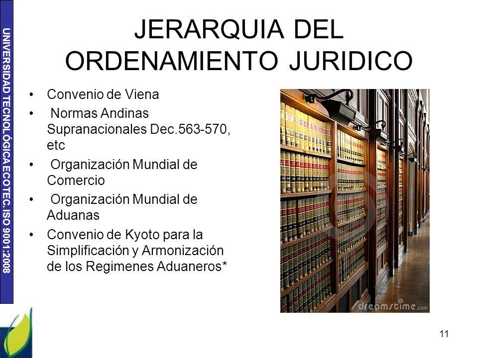 JERARQUIA DEL ORDENAMIENTO JURIDICO