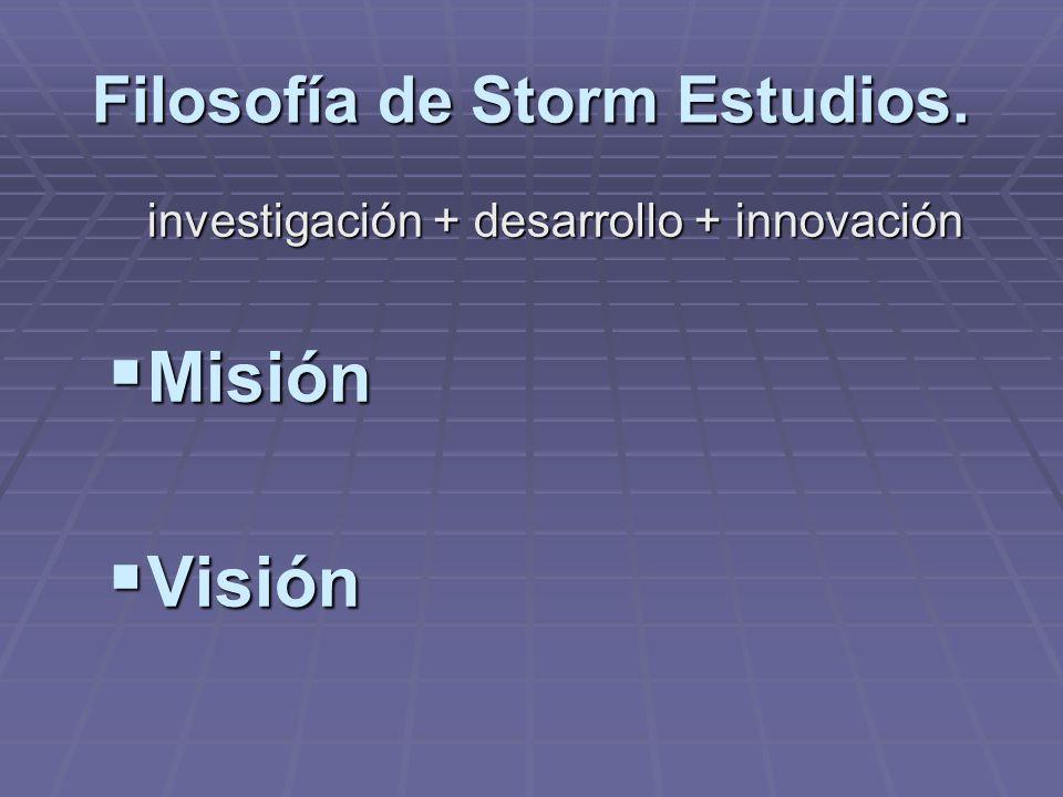 Filosofía de Storm Estudios.