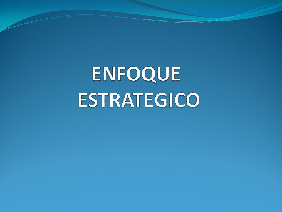 ENFOQUE ESTRATEGICO