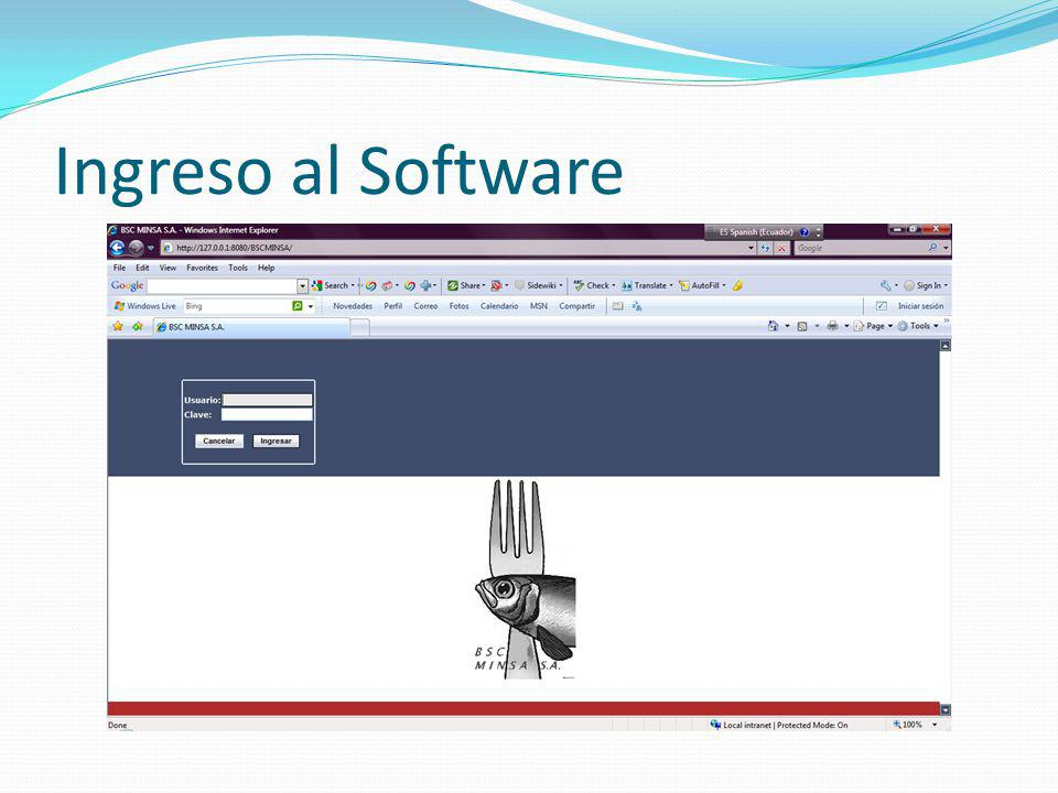 Ingreso al Software