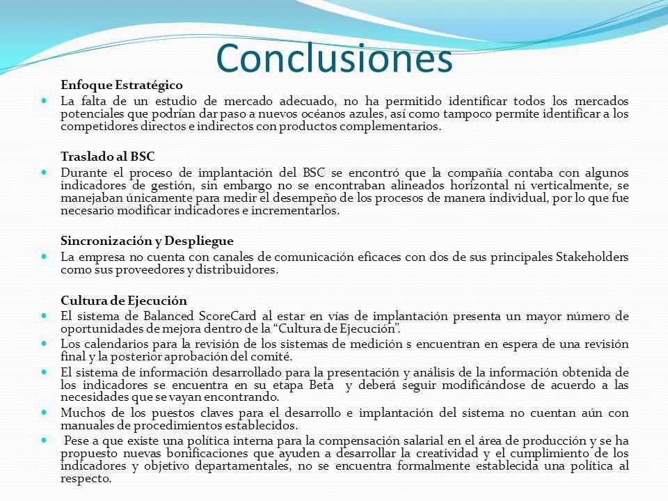 Conclusiones Enfoque Estratégico.