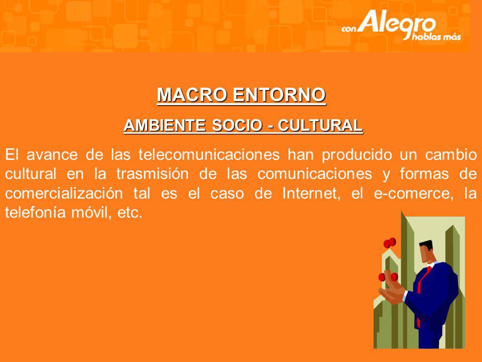 AMBIENTE SOCIO - CULTURAL