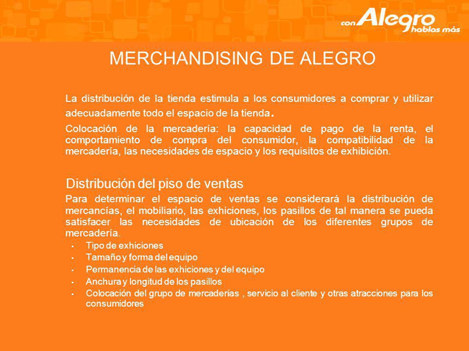 MERCHANDISING DE ALEGRO