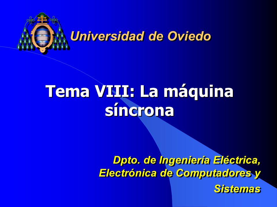 Tema VIII: La máquina síncrona