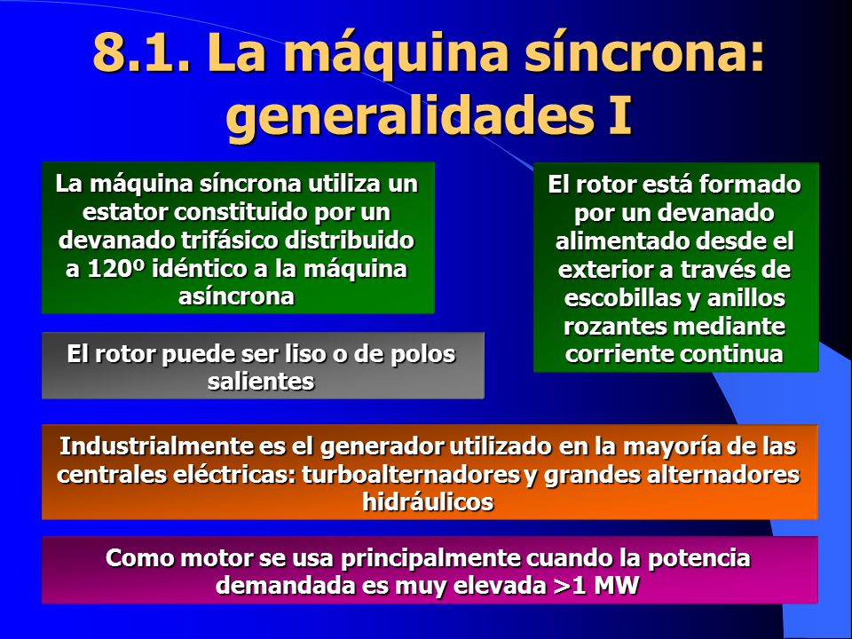 8.1. La máquina síncrona: generalidades I
