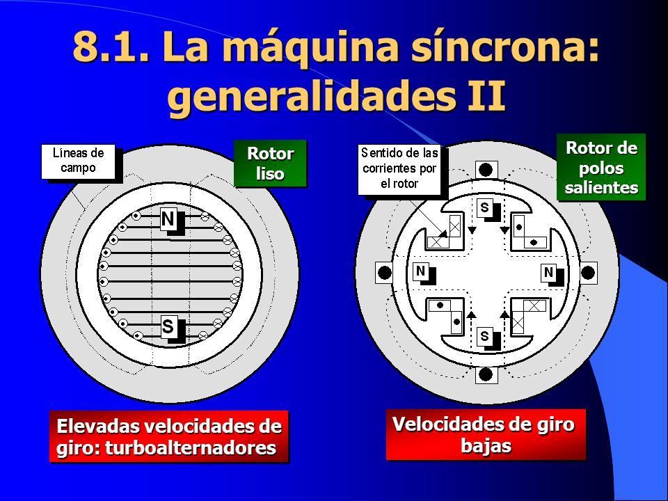 8.1. La máquina síncrona: generalidades II