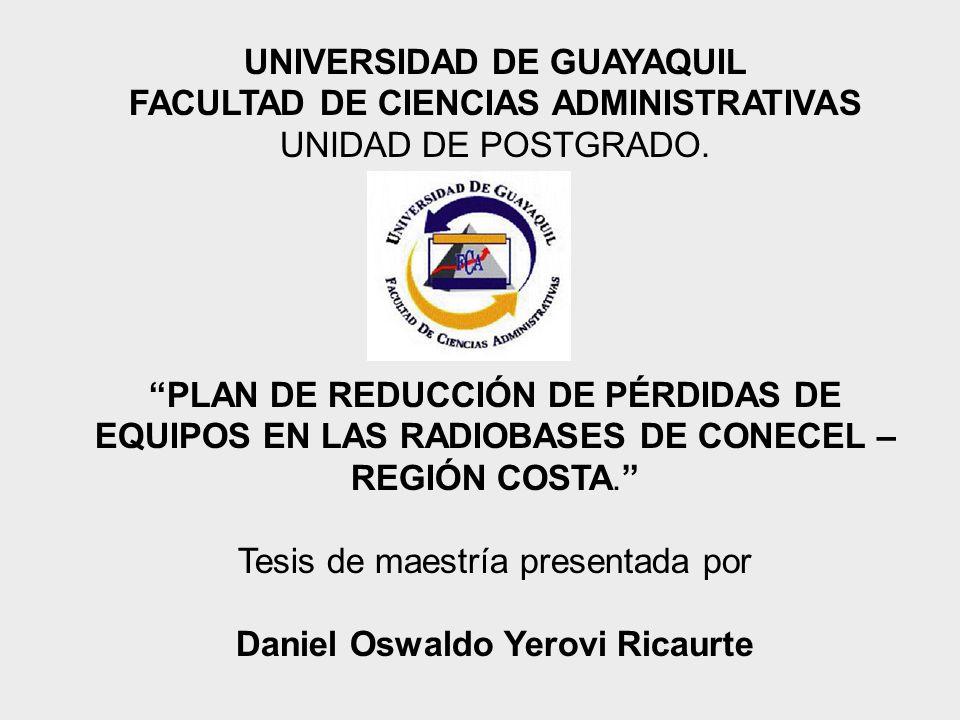 UNIVERSIDAD DE GUAYAQUIL Daniel Oswaldo Yerovi Ricaurte