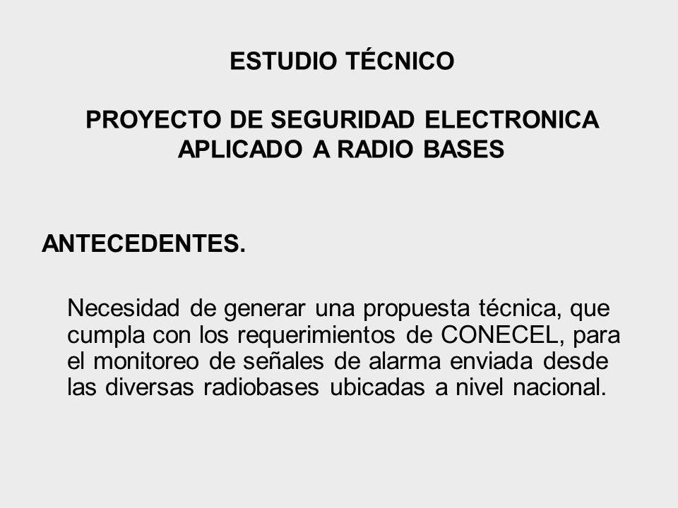 ESTUDIO TÉCNICO PROYECTO DE SEGURIDAD ELECTRONICA APLICADO A RADIO BASES