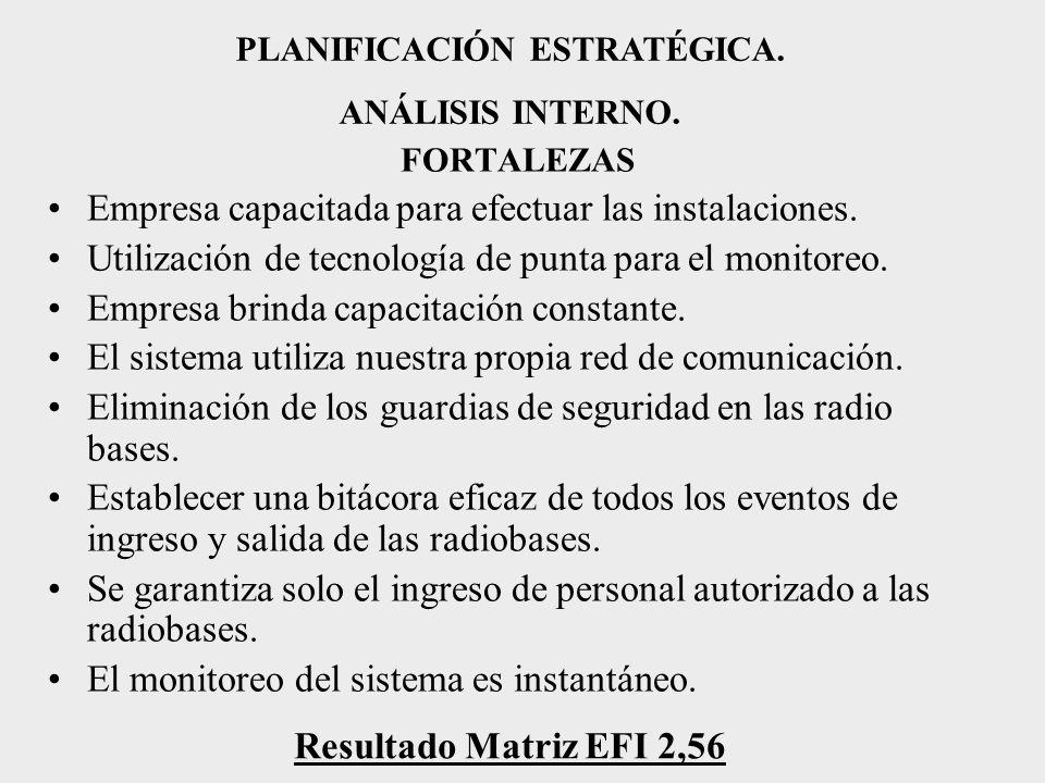 PLANIFICACIÓN ESTRATÉGICA.