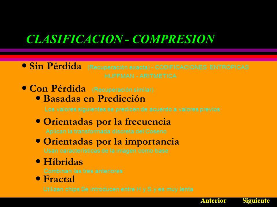 CLASIFICACION - COMPRESION