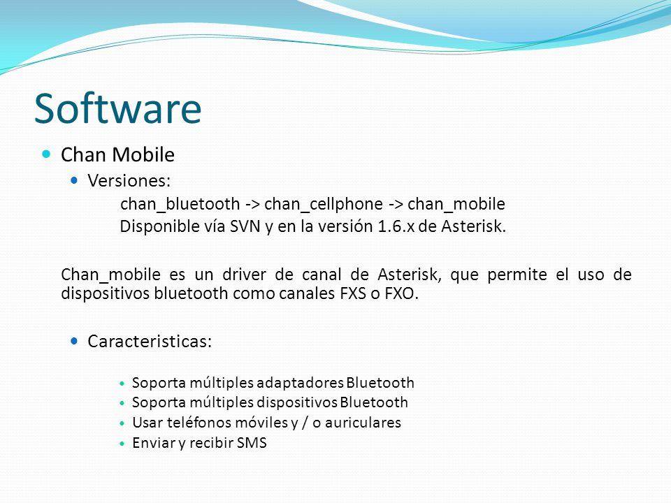 Software Chan Mobile Versiones: