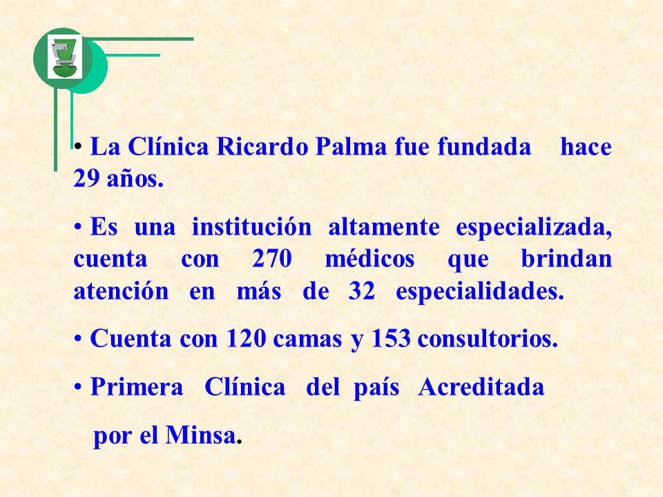La Clínica Ricardo Palma fue fundada hace 29 años.