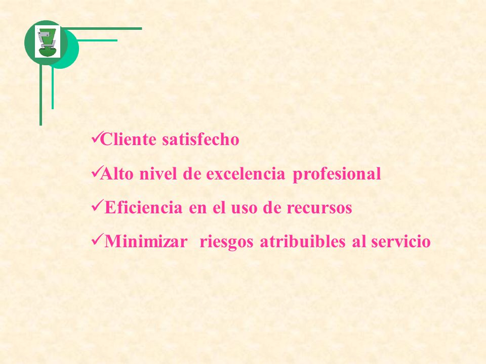 Cliente satisfecho Alto nivel de excelencia profesional.