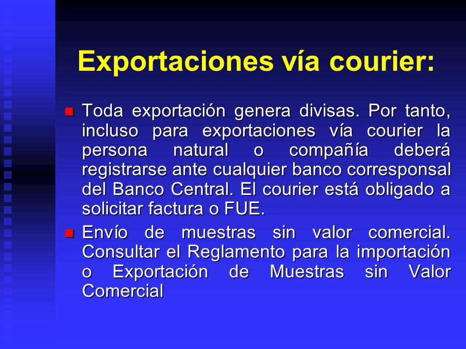 Exportaciones vía courier:
