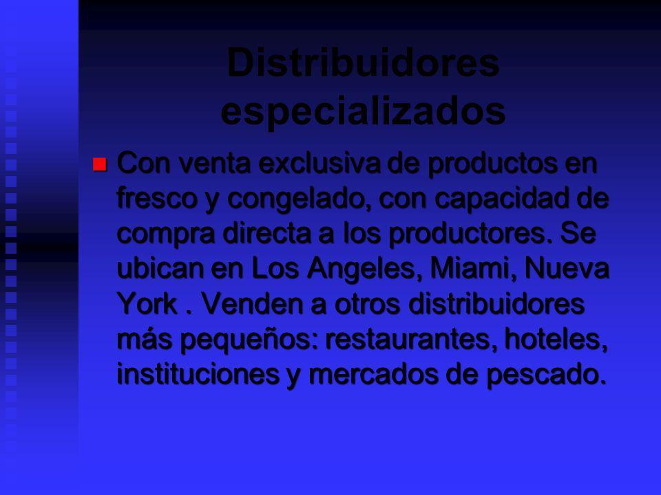 Distribuidores especializados