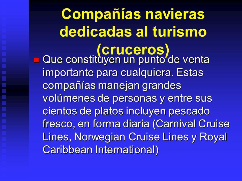 Compañías navieras dedicadas al turismo (cruceros)