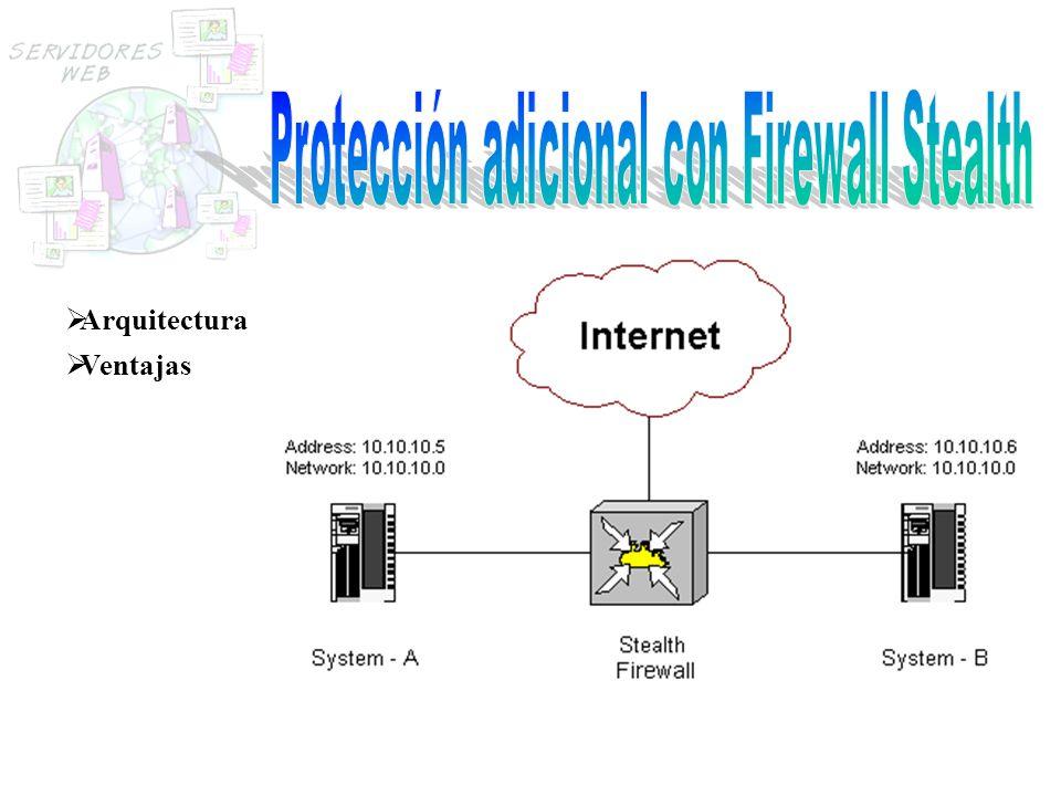 Protección adicional con Firewall Stealth