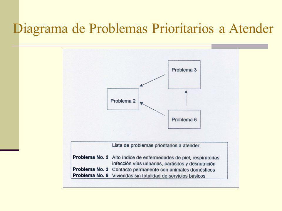 Diagrama de Problemas Prioritarios a Atender