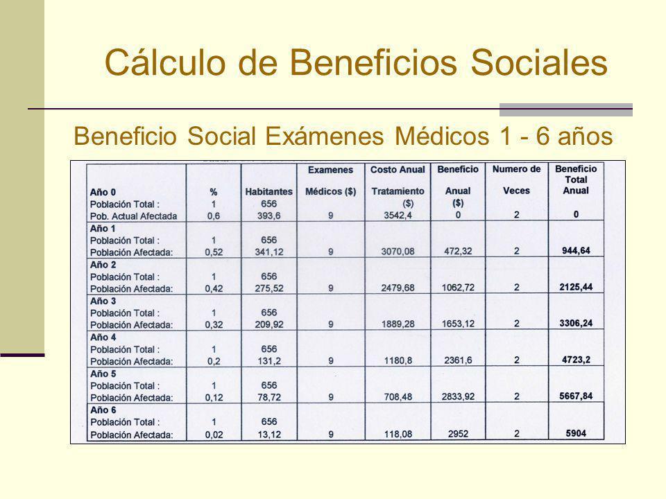 Cálculo de Beneficios Sociales