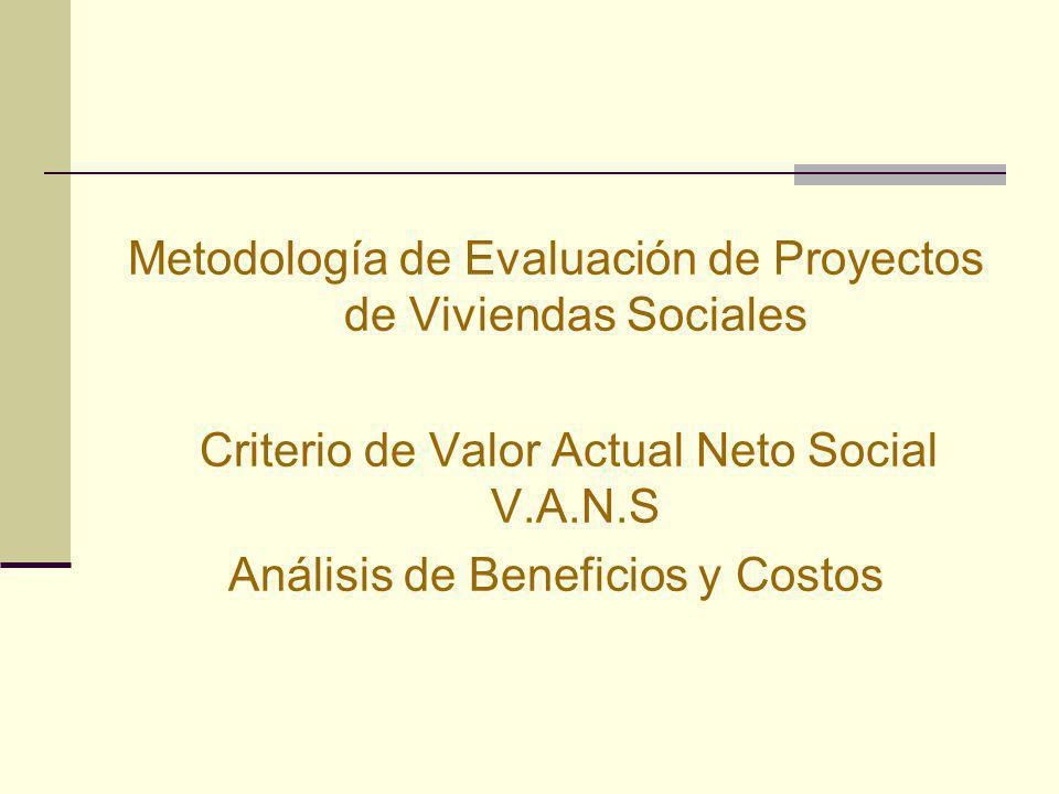 Metodología de Evaluación de Proyectos de Viviendas Sociales