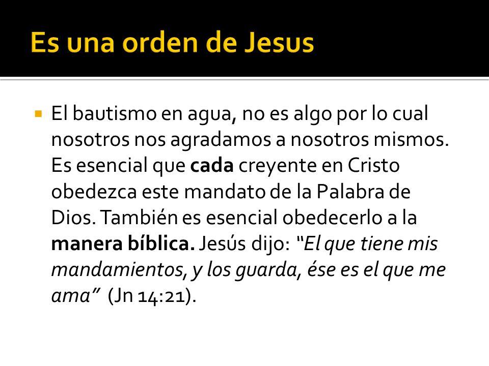 Es una orden de Jesus