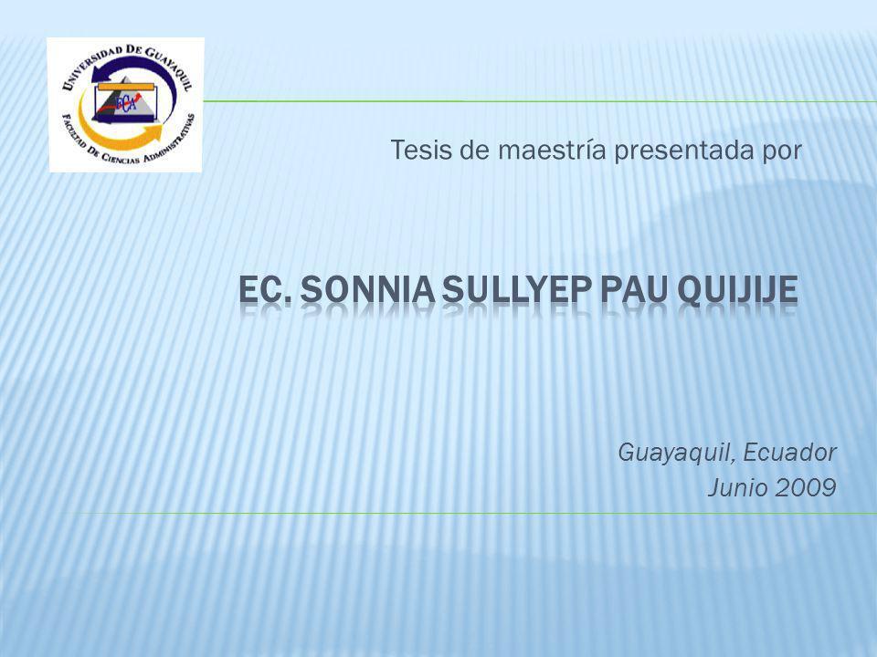 Ec. Sonnia Sullyep Pau Quijije