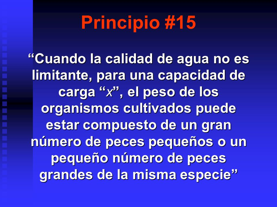 Principio #15