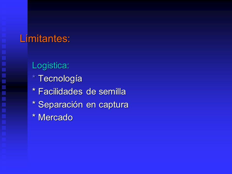 Limitantes: Logistica: * Tecnología * Facilidades de semilla
