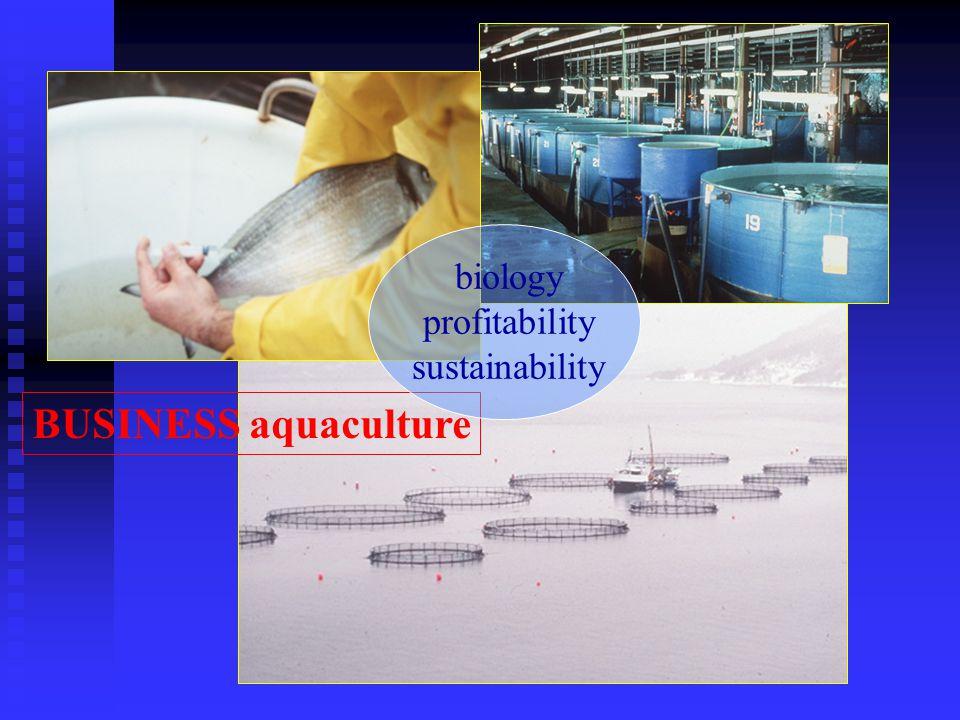 BUSINESS aquaculture biology profitability sustainability