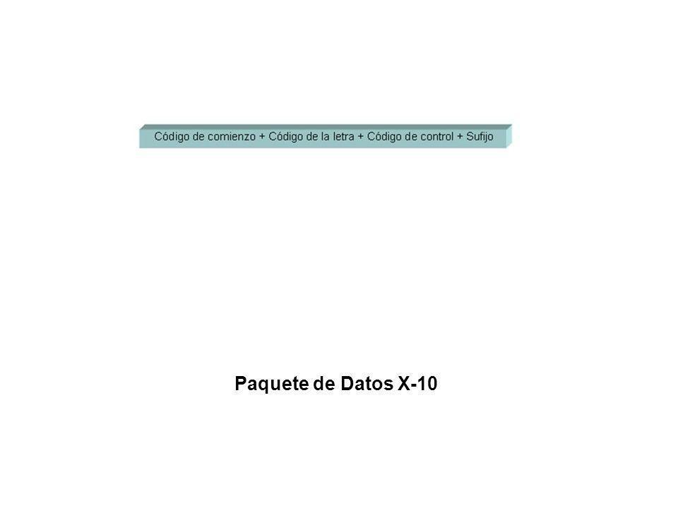 Paquete de Datos X-10