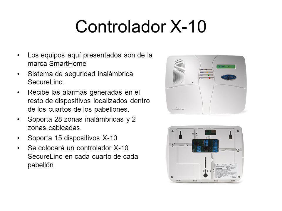 Controlador X-10 Los equipos aquí presentados son de la marca SmartHome. Sistema de seguridad inalámbrica SecureLinc.