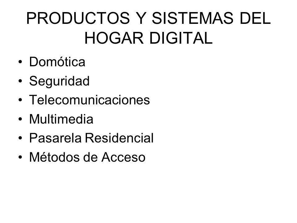 PRODUCTOS Y SISTEMAS DEL HOGAR DIGITAL