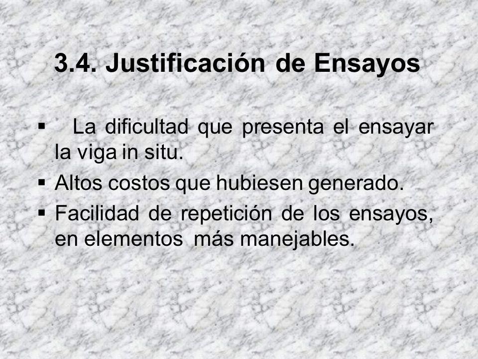 3.4. Justificación de Ensayos