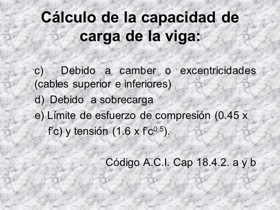 Cálculo de la capacidad de carga de la viga: