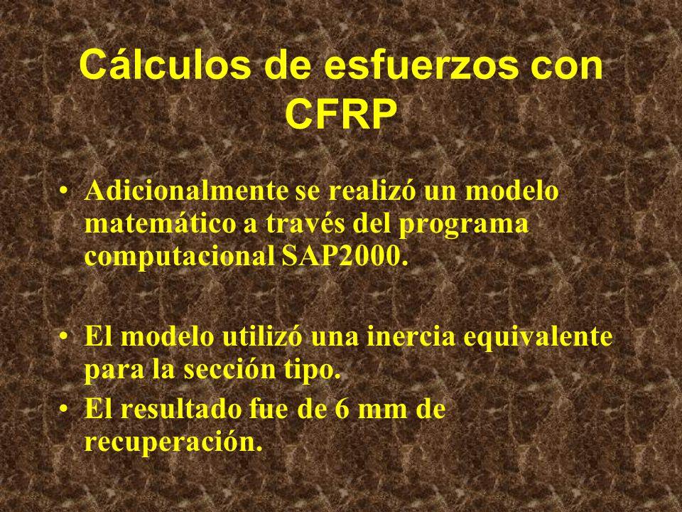 Cálculos de esfuerzos con CFRP