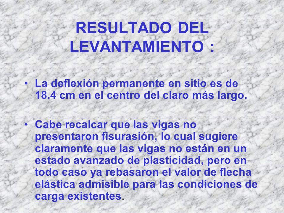 RESULTADO DEL LEVANTAMIENTO :