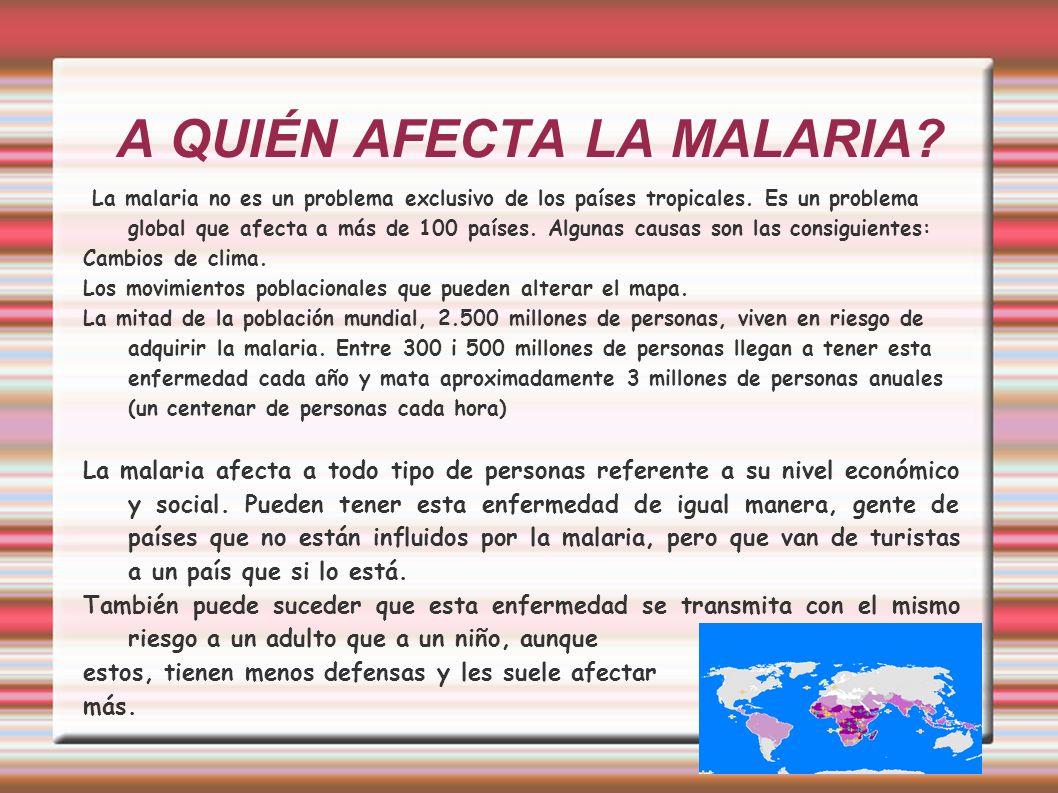 A QUIÉN AFECTA LA MALARIA