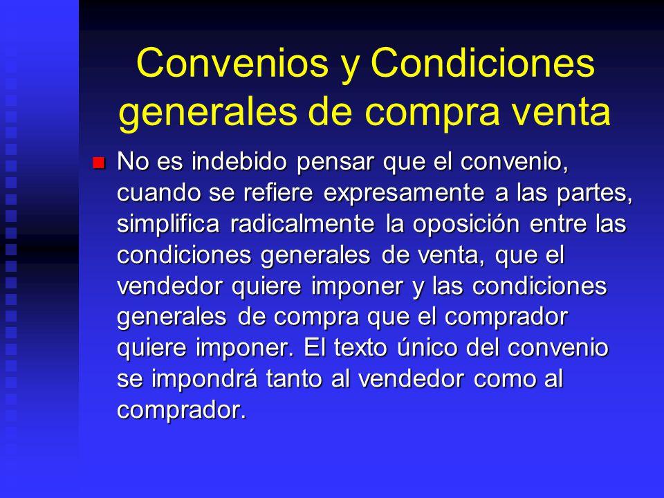 Convenios y Condiciones generales de compra venta