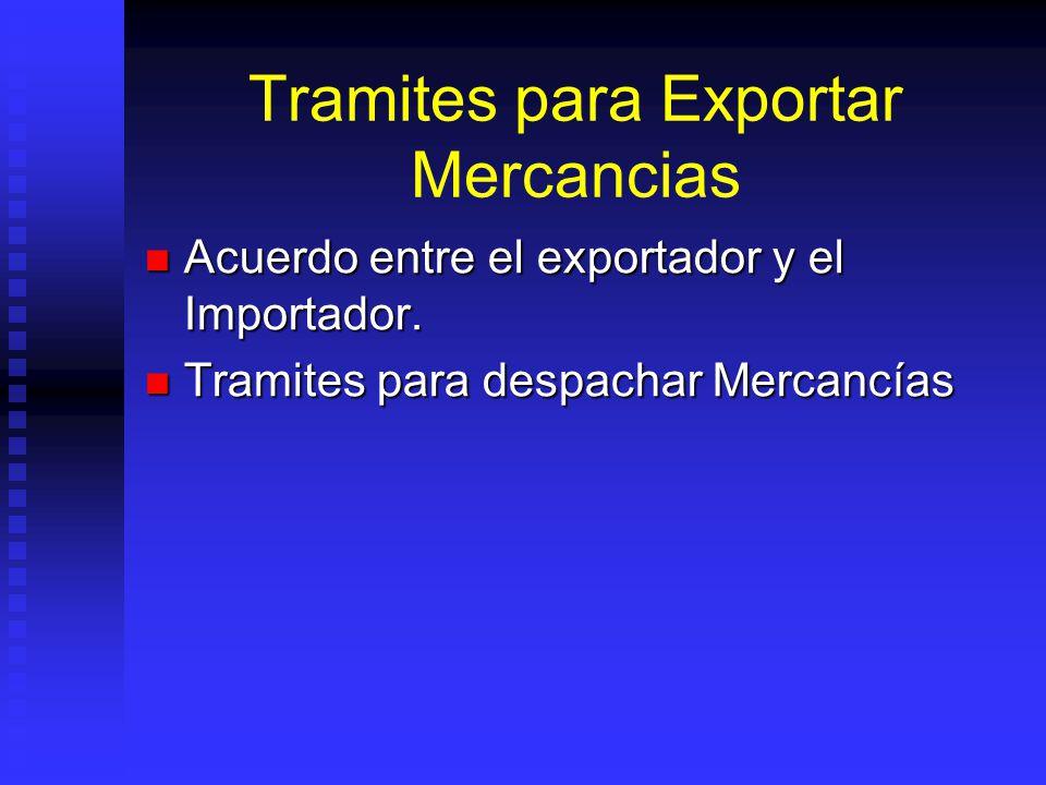 Tramites para Exportar Mercancias