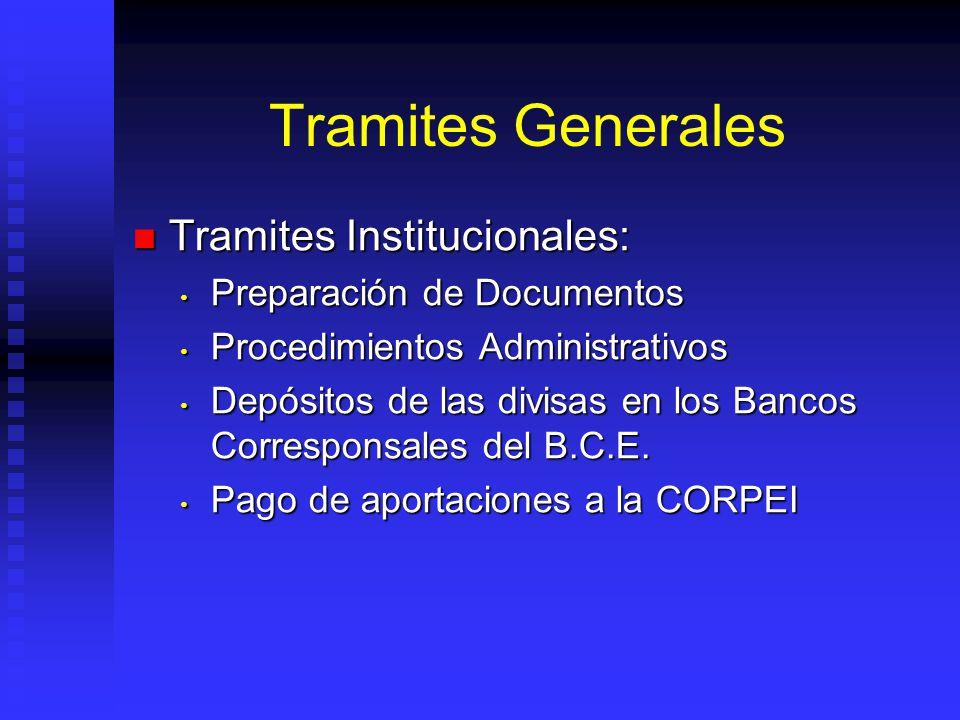 Tramites Generales Tramites Institucionales: Preparación de Documentos