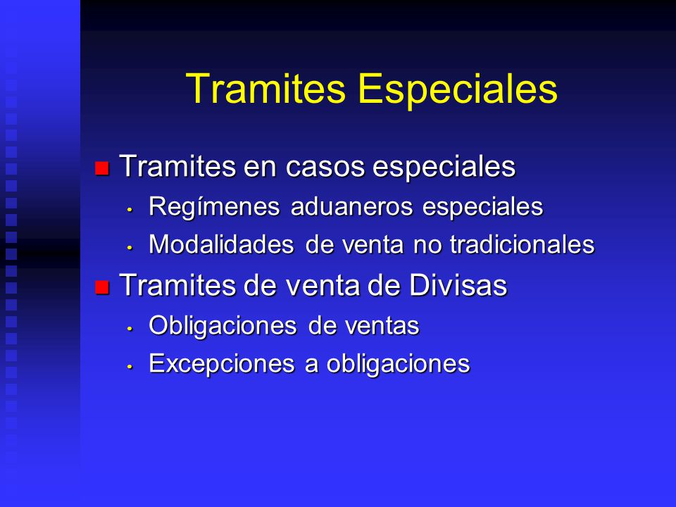 Tramites Especiales Tramites en casos especiales