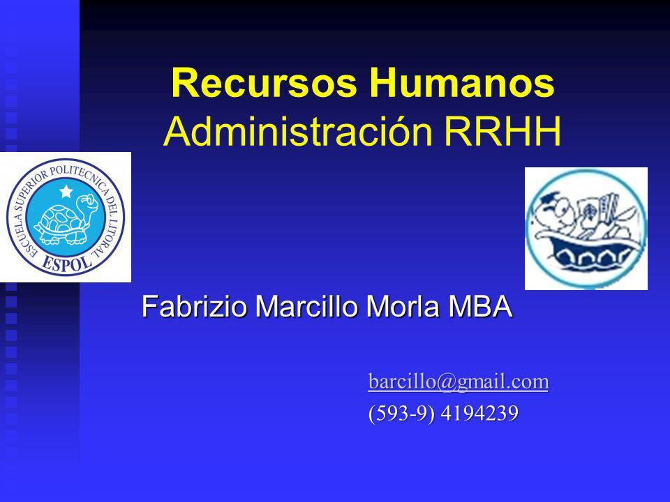 Recursos Humanos Administración RRHH