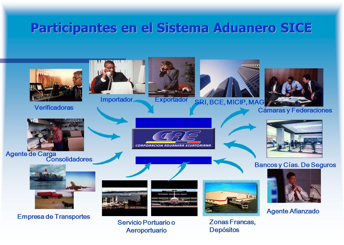 Participantes en el Sistema Aduanero SICE